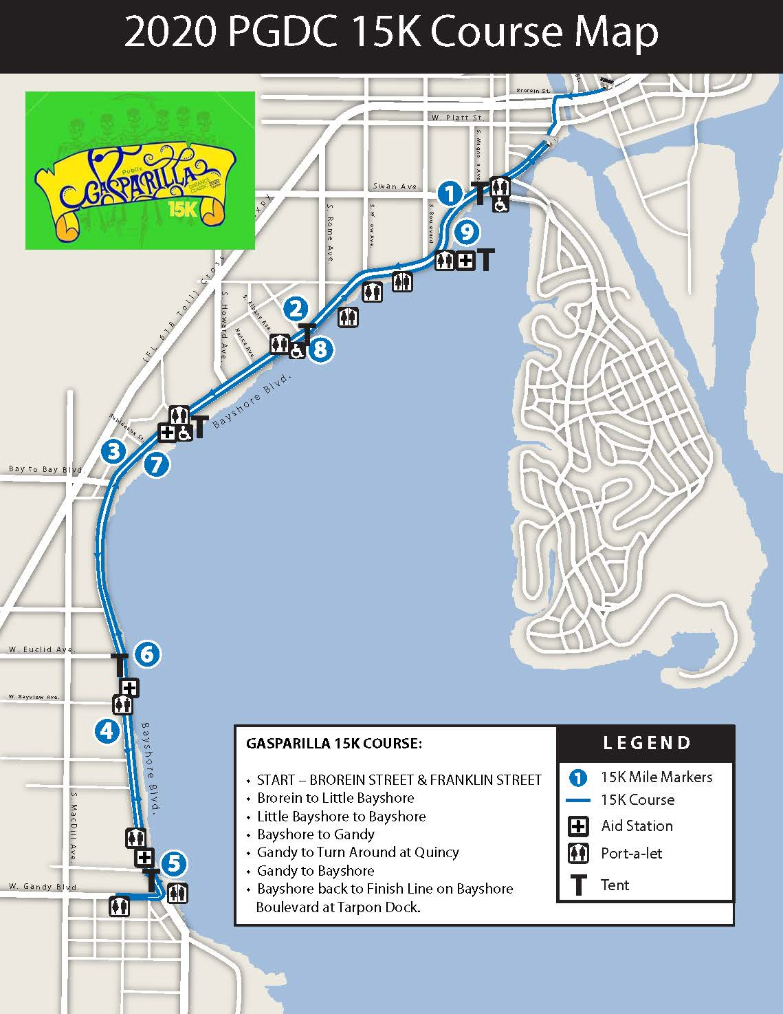 2020 15K Course Map